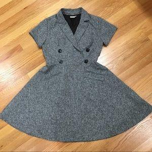 EShakti Tweed Faux Double Breast Dress